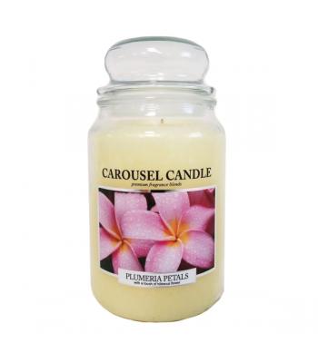 Carousel Candles - Plumeria Petals Large Jar Candle 23oz