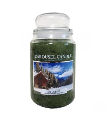 Clearance Special - Carousel Candles - Ski Lodge Large Jar Candle 23oz **DAMAGED**