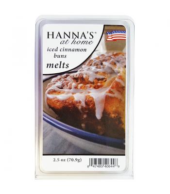 Hanna's At Home Iced Cinnamon Buns Wax Melts 2.5oz (70.9g) Non Food