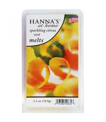 Hanna's At Home Sparkling Citrus Zest Wax Melts 2.5oz (70.9g) Non Food