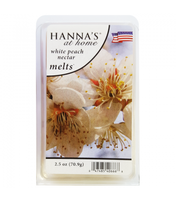 Hanna's At Home White Peach Nectar Wax Melts 2.5oz (70.9g) Non Food