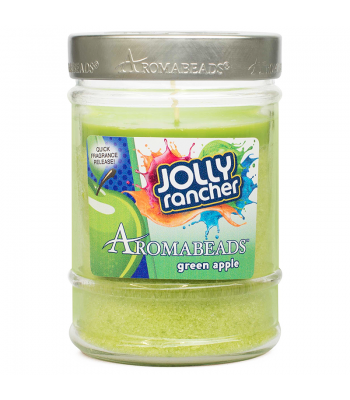 Jolly Rancher Aromabeads Green Apple Scented Canister Candle 7.25oz (205.5g) Non Food
