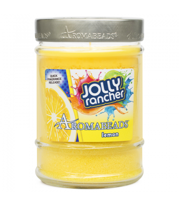 Jolly Rancher Aromabeads Lemon Scented Canister Candle 7.25oz (205.5g) Non Food