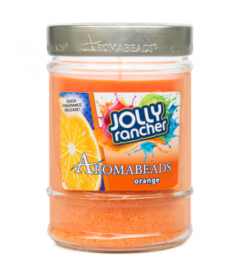 Jolly Rancher Aromabeads Orange Scented Canister Candle 7.25oz (205.5g) Non Food