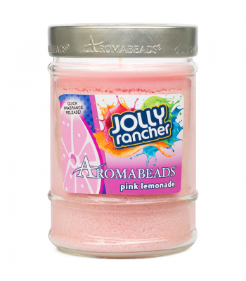 Jolly Rancher Aromabeads Pink Lemonade Scented Canister Candle 7.25oz (205.5g) Non Food