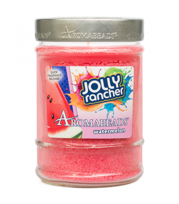 Jolly Rancher Aromabeads Watermelon Fire Scented Canister Candle 7.25oz (205.5g) Non Food