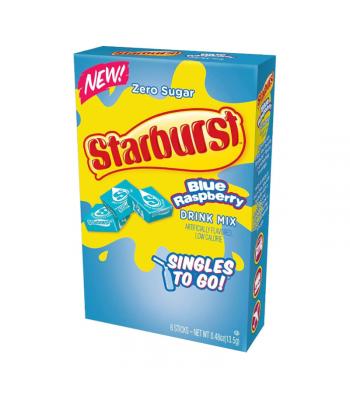 Starburst Zero Sugar Blue Raspberry Singles to Go - 0.48oz (13.5g) Soda and Drinks Starburst