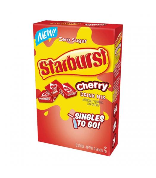 Starburst Zero Sugar Cherry Singles to Go - 0.59oz (16.7g) Soda and Drinks Starburst