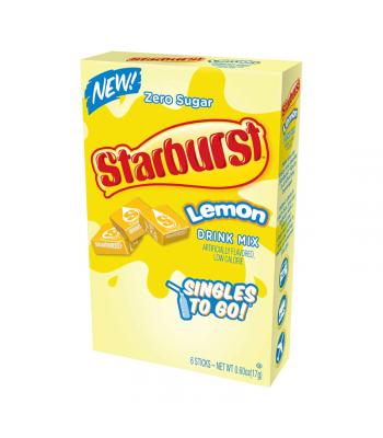 Starburst Zero Sugar Lemon Singles to Go - 0.59oz (16.6g) Soda and Drinks Starburst
