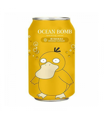 Ocean Bomb Pokemon Psyduck Apple Flavour Sparkling Water - 12fl.oz (355ml) Soda and Drinks