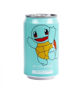 Ocean Bomb Pokemon Squirtle Pear Sparkling Water - 12fl.oz (355ml) Soda and Drinks
