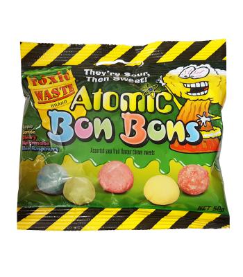 Toxic Waste Atomic Bon Bons Sour Candy 50g Soft Candy
