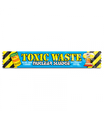 Toxic Waste Nuclear Sludge Chew Bar Blue Raspberry 0.7oz (20g) Soft Candy