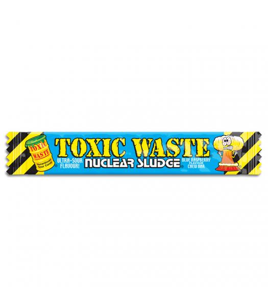Toxic Waste Nuclear Sludge Chew Bar Blue Raspberry 0.7oz (20g) Soft Candy