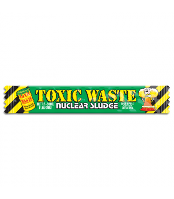 Toxic Waste Nuclear Sludge Chew Bar Green Apple 0.7oz (20g) Soft Candy