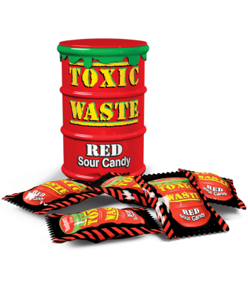 Toxic Waste Red Drum Extreme Sour Candy 1.5oz (42g)