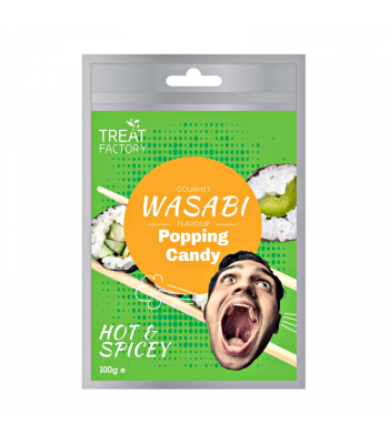 Gourmet Wasabi Flavour Popping Candy - (100g) Sweets and Candy