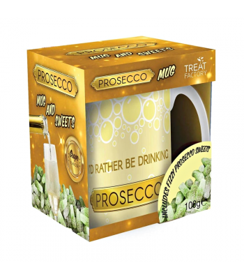 Prosecco Mug & Sweets - (100g) Sweets and Candy