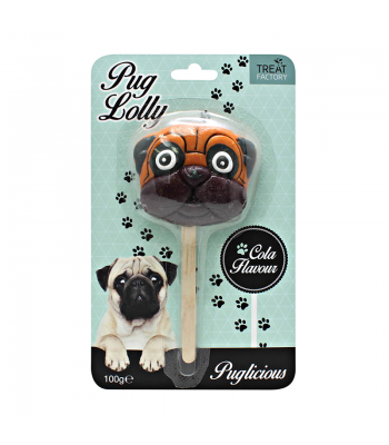 Giant Puglicious Pug Lolly - (100g) Sweets and Candy